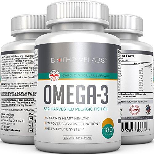 Pures oméga-3 pilules d'huile de poisson - 180