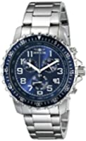 Invicta Specialty Men's Quartz Watch with Blue Dial  Chronograph display on Silver Stainless Steel Bracelet 6621