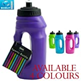 Sports Bottle - One Handed - Pop-Up Top - Carry Handle (Purple)
