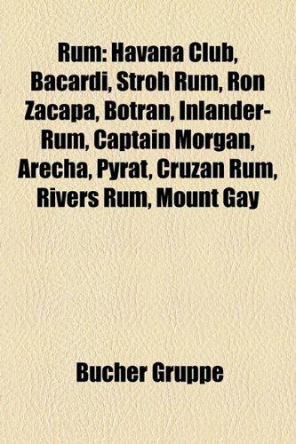 Rum: Havana Club, Bacardi, Stroh Rum, Ron Zacapa, Botran, Inlander-Rum, Captain Morgan, Arecha, Pyrat, Cruzan Rum, Rivers R