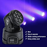 Led Par Stage Light,7×15W RGBW LED Wall Wash Lighting DMX512 Sound Activated Moving Head Party Disco Wedding Stage Light