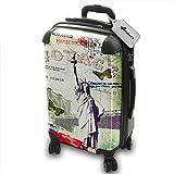 Voyage Usa 1, America, Lightweight Hard Case Luggage Shell Spinner...