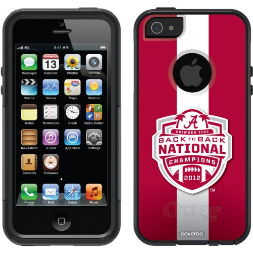 Best Price Alabama - BCS Champs 2012 Stripe 2 design on a Black OtterBox® Commuter Series® Case for iPhone 5s / 5