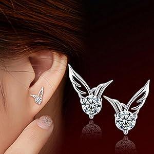 Women Fashion Elegant Angel Wings Wings Earrings Ear Jewelry
