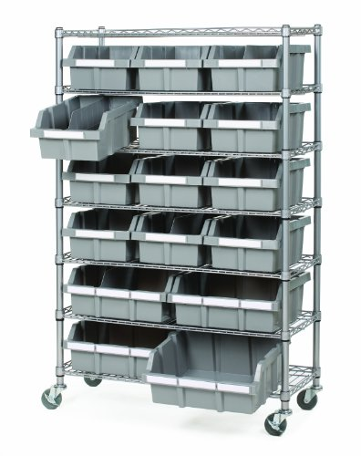 Images for Seville Classics SHE16510 Commercial 7-Shelf Bin Rack System