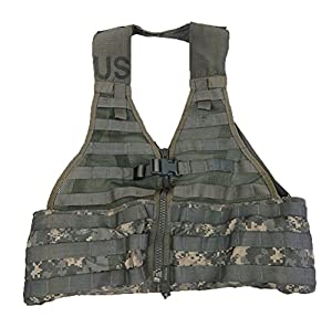 Official US Military MOLLE II Army ACU FLC Fighting Tactical Assault Vest Carrier