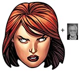 Mask Pack - Black Widow from Marvel's The Avengers Single Card Party Face Mask includes 6x4 inch (15cm x 10cm) Star Photo