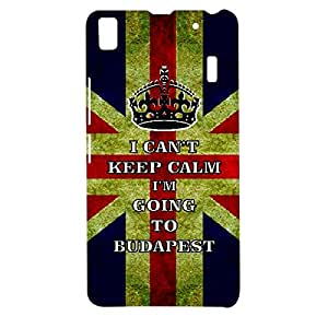 Skin4gadgets I CAN'T KEEP CALM I'm GOING TO BUDAPEST - Colour -UK Flag Phone Designer CASE for LENOVO A7000