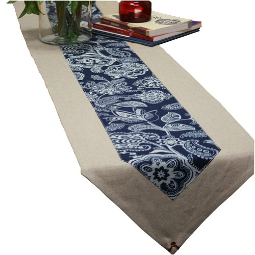 "75"" By 13""Creative Florid Seamed Table Runner Traditional Cotton Table-Cloth"