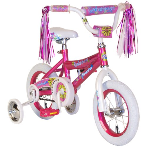 Piranha Girl's Enchantment Bike (Pink/White, 12-Inch)
