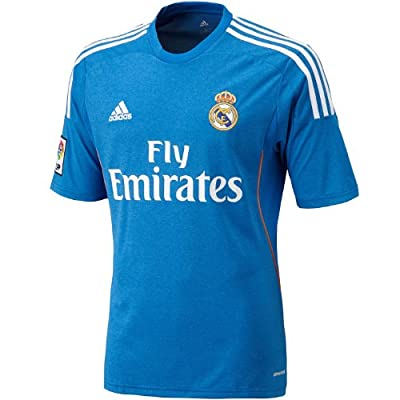 ADIDAS Real Madrid CF Away Jersey [AIRFORBLU/WHITE/LGTORANGE] (XL)