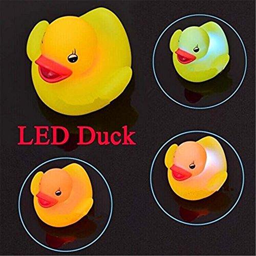 GONO 4ST wasserdichte LED-Ente-nachtlicht Baden Badewanne Spielzeug für Kinder