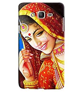 Omnam Girl In Bridal Pose Printed Designer Back Cover Case For Samsung Galaxy On 7