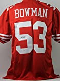 49ERS NAVORRO BOWMAN AUTHENTIC SIGNED JERSEY RED AUTOGRAPHED CERTIFICATE OF AUTHENTICITY PSA/DNA #NBJERS21
