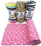 Hundedecke Tierdecke Katzendecke Decke Tuch Tiertuch Hundetuch Haustierdecke Schlafplatz Hund Katze 150 x 120 cm (Pink mit Herzen)