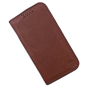 Dooda Genuine Leather Flip Case For Sony Xperia Z2 (BROWN)