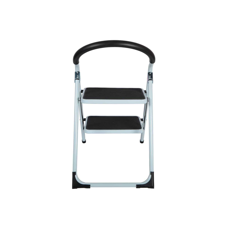 New 2 Tier Non Slip Folding Step Ladder Tread Stepladder