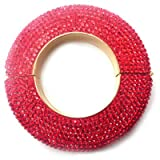 Butler & Wilson Chunky Disc Red Crystal Snap Show Bangle