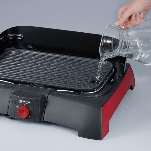 severin pg 2786 barbecue grill schwarz rot raclette. Black Bedroom Furniture Sets. Home Design Ideas