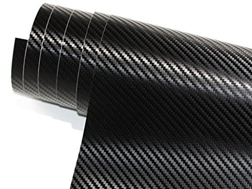 1532-x20acM-30-cm-x-152-cm-Autocollant-Brillant-Film-canaux-Air-Carbon-Noir-3D