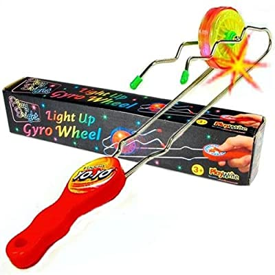 5 X Light Up Gyro Kinetic Wheel (Rail Twister)