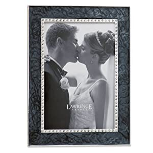 Lawrence Frames Gray Crystal Enamel 4x6 Picture Frame