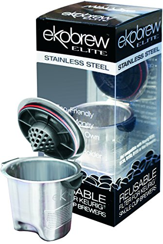 Ekobrew Stainless Steel Elite Cup, Refillable K-Cup For Keurig K-Cup Brewers
