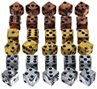 Gold, Silver, Bronze Swirl, Six-sided, 16mm Dice _Bundle of 30 Dice