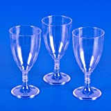 Plastic Clear Wine Glass (25 Pieces Per Case)