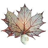 Real Leaf Sugar Maple Night Light, Copper Iridescent