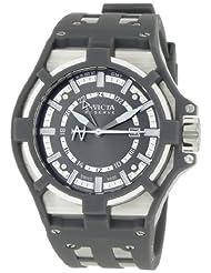 Invicta Men's 0625 Reserve Collection Akula GMT Grey Dial Grey Polyurethane Watch