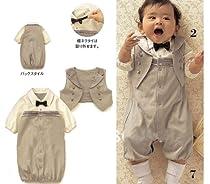 SOPO Baby Boys Formal Suit Wear Summer Baby Boys Gentlemen Romper 18m Beige