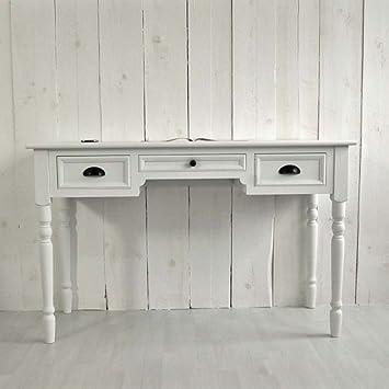 lounge-zone Schreibtisch Sekretär FERRAND Holz MDF weiß 3 Schubladen Breite 127cm 10623