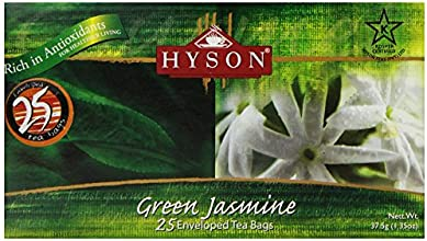 HYSON Filter Bag Green Tea Jasmine 25-Count Pack of 6