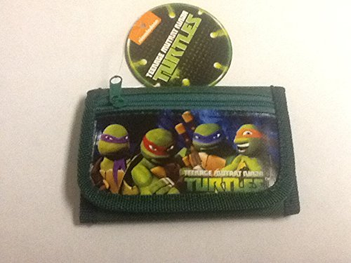 Brand New 2014 Teenage Mutant Ninja Turtles Tri Fold Wallet (Green)