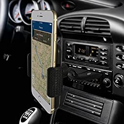 Car Mount,Kainnt CD Slot Smartphone Car Mount holder Cradle for iPhone 6/6Plus/6s/6s plus/5S/5C/4s Samsung Galaxy S3/S4/S5/S6,Note2/3/4 and All 3.5-5.8inch Phone Device,GPS Device P/N:90-CD