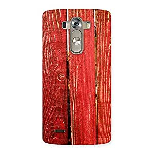 Red Bar Wood Print Back Case Cover for LG G3