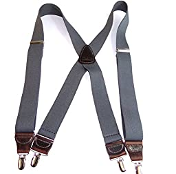 Slate Gray Suspenders 1 1/2\