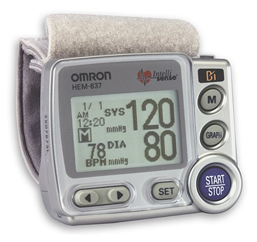Cheap Omron 637 Compact Wrist Blood Pressure Monitor (HEM-637)
