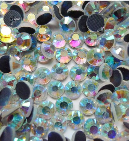 NEW from APS_Sewing CZECH Quality 10gross (1440pcs) HotFix Rhinestones Crystals - 5mm/20ss, AB Crystal Color