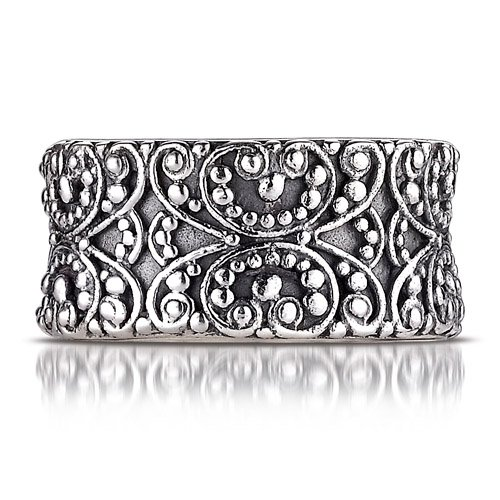 Sterling Silver This Beautiful Sterling Silver Sara Blaine Ring Features An Intricate Filigree Pattern For A Lovely One Of Kind Look