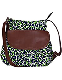Snoogg Leopard Print Casual Spacious MultiPurpose Sling Bag Carry Around