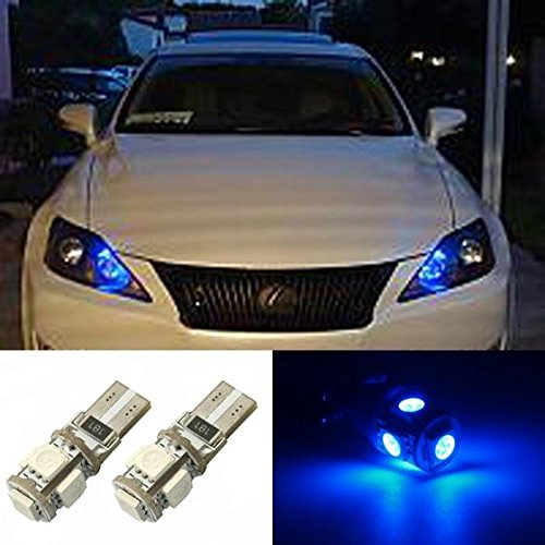 PartsSquare 2x 5-5050-SMD Canbus No Error Blue Car Led Parking Eyelid Driving 2825 168 T10 (2002 Ford Escape Lid compare prices)