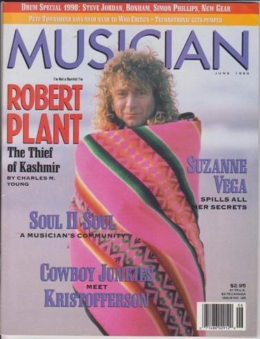 Musician Magazine (June 1990) Led Zeppelin Robert Plant / Suzanne Vega