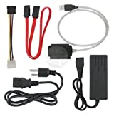 3 in 1 USB 2.0 To SATA / IDE Adapter Cable + Power Cord