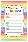 Colorful Rainbow Party Invitations -…