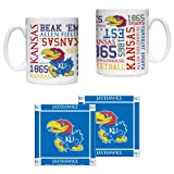 NCAA Kansas Jayhawks Ceramic Coffee Mug (2) & Coaster (2) Set | University of Kansas Spirit Mug Gift Set at Amazon.com