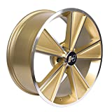 Hurst Dazzler Gold Accent/Clear Coat Wheel with Mirror Machined Face (20x8.5