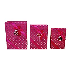 Hard Board Rectangular Shaped Combo of Three Gift Box RBH01