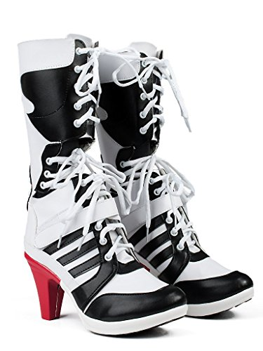 [NEW ARRIVAL! Batman DC Comics Suicide Squad Harley Quinn Cosplay Boots Costume (6 US Size, White)] (Ghostbusters Plus Size Costumes)